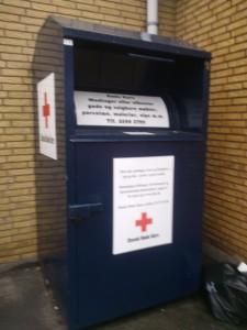 Tøjcontainer Røde Kors
